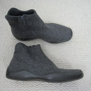 Prada Boots Womens Size 6 Gray Ankle Shoes